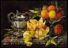 28x20 Oranges Backsplash Mural Tumbled Marble Tiles Kitchen Ideas Jean Capeinick