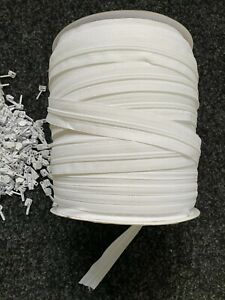 No.5 White Continuous Zip Chain & Sliders- Various lengths , Upholstery Zips
