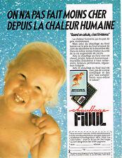 PUBLICITE ADVERTISING 015  1989  LE CHAUFFAGE au fioul