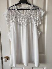 City Chic White Floral Lace Top Blouse Size M