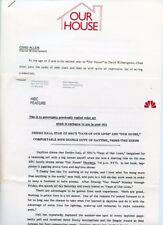 DEIDRE HALL CHAD ALLEN OUR HOUSE RARE ORIGINAL 1986 NBC TV PRESS MATERIAL