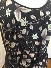 NEW CLUB MONACO MULTICOLOR  GEOMETRIC FLOWER DESIGN SILK TUNIC DRESS SIZE S