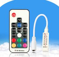 Mini 12V Schlüssel RF Funkfernsteuerung Dimmer RGB Controller 5050 LED Streifen
