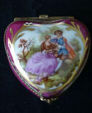 Vintage Limoges France Gold Trinket Box 'Hart Shape'