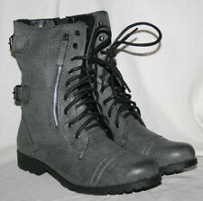 LADIES BLACK LACE UP MILITARY STYLE BOOT WITH INSIDE ZIP IN SIZE UK 7 / EU 40