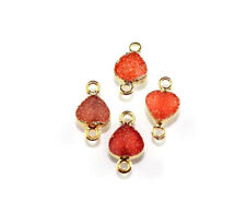 Dh6948 Excellent Natural Agate Druzy Gold Plated Connector Making Royal Jewelry