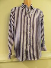 * Mens Lg L Robert Graham Purple Striped Button Front Shirt L/S Cotton LEONARD