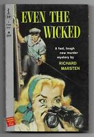 Even the Wicked by Richard Marsten (1958 Perma pb [M3117] - Jerry Allison art )