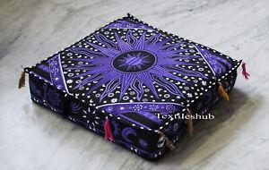 "18"" Burning Sun Indian Mandala Floor Decorate Square Pillow Cushion Cover Throw"