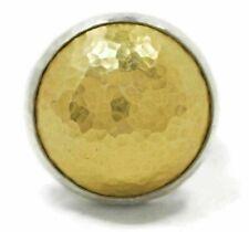 Gurhan Amulet Sterling & 24k Gold Hammered Dome Ring Size 6.5