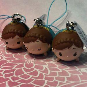 Disney Tsum Tsum Konami Arcade Strap Birthday Anna All 3 Faces Trio RARE!!