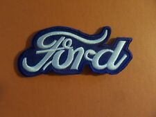 FORD NAME white& blUE   Embroidered 1-3/4 x 4 Iron Or Sew On Patch