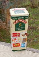 Emmets Stamps of Ireland Irish Cream Liqueur Empty Metal Tin Box Container