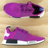 Adidas NMD R1 Vivid Pink White Black Womens Boost Running Shoes BD8027 Size 9.5