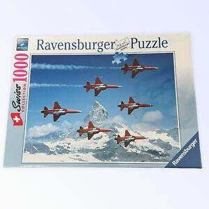 NEW RAVENSBURGER SWISS PATROL Collection 1000 Piece Jigsaw Puzzle 192892 Plane
