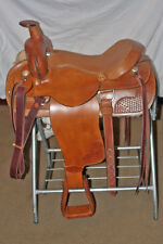 "NEW SADDLE CUSTOM HANDMADE 16"" RANCH, ROPING SADDLE"