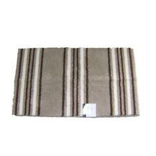 Mainstays Brown Stripe Bath Rug Skid Resist Soft & Plush Throw Accent Mat 23x39