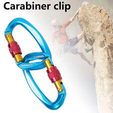 2Pcs Carabiner Clip Hook 25KN D-Ring Screw Lock Outdoor Rock Climbing Exploring