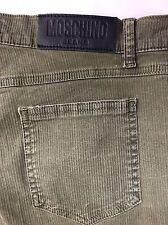 Moschino Khaki Striped Jeans W29 L31