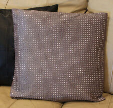 Stunning Stud Designer Pillow Cover By K and K 18X18 Decorator Neutral Taupe