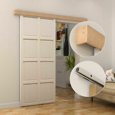 Rustic Barn Sliding Door Kit Set Hardware Track Closet Single Wooden Room Decor