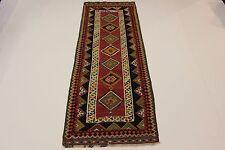 nomades très bien Kelim pièce unique PERSAN TAPIS tapis d'Orient 3,72 x 1,32