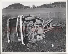 Vintage Car Photo Unusual 1962 1966 Chevrolet Pickup Truck vs Train Wreck 659856
