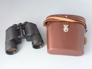 Vintage Carl Zeiss Jena Jenoptem 10x50w Binoculars Multi Coated With Case