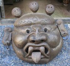 Antique Hand Carved Iron Tibetan Tantrik Mask, Nepal