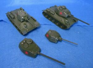 Classic Toy Soldiers WWII Russian tanks T-34/76 + 85 mm with two extra turrets