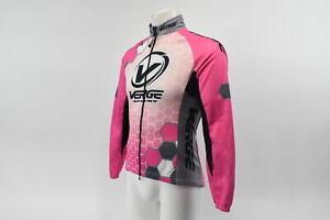 Verge Women's Small Elite Pelta Fleece Winter Cycling Jacket Pink/White