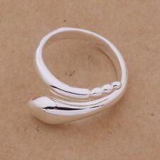 Cola de Serpiente Anillo de plata esterlina Pulgar Dedo 925 Ajustable Envolvente Diseño womam's
