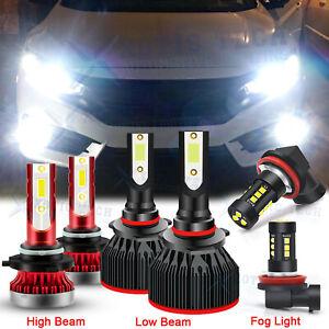 For Honda Civic 2006-2012 2013 2014 2015 LED Headlight High Low Fog Light Bulbs