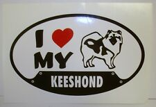 Brand New Keeshond Dog Sticker for Vehicle or Window (New old stock) Free S&H