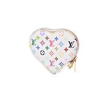 S/S 2003 Louis Vuitton x Takashi Murakami Multicolor Monogram Heart Pouch