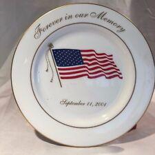 Lenox September 11Th 9/11 Commemorative Plate Forever in our Memory Remember