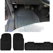 3pc LG. Car Front ack Rubber Mats and  Runner ack Utility Rear Mats