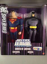 DC SUPER HEROES Giants of Justice Superman & Batman 10in. Original (Unopened)