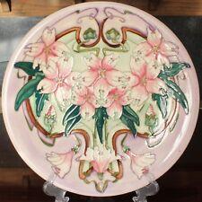 """Moorcroft Pottery BLAKENEY MALLOW Design 14"""" Wall Plaque, Sarah Brummell-Bailey"""