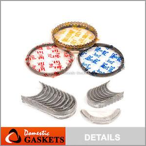 85-00 Geo Chevrolet Metro Sprint 1.0L Main&Rod Bearings&Rings Kit VIN 2 5 6 M