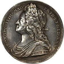 1727, ENGLAND, George II Coronation, silver, 35mm, VF