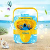 Bubble Machine Automatic Bubble Maker Blower Music Electric Outdoor Kids Toys