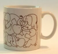 Vintage Taylor & NG San Francisco Animates Naughty Elephants Mug 1979