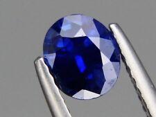 Natural Blue Ceylon Sapphire 0.92ct Oval 6x5.5mm Fine Quality Loose Gemstone VS
