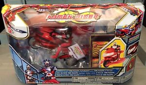 ENDS_EARLY Kamen Rider Dragon Knight with Dragon Cycle by Bandai