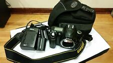 Nikon D50 6.1 MP Digital SLR Camera Body 2 batteries carry bag and charger