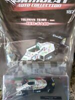 TOLEMAN TG185 TEO FABI 1985 FORMULA 1 AUTO COLLECTION #187 MIB 1:43 DIE-CAST