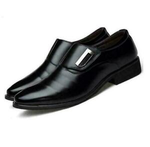 Mens Pointed Toe Casual Loafers Slip On Formal Dress Office Oxfords Shoes Size