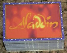 Aladdin by Panini in 1993. Complete 100 card base set with 10 gold foil stickers