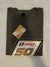 IMSA Car Racing Gray Mens T-Shirt 50th Anniversary T Shirt NWT XLarge